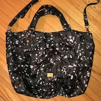black and white floral leather hobo bag Oradell, 07649