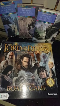 Lord of the rings trilogy books/board game