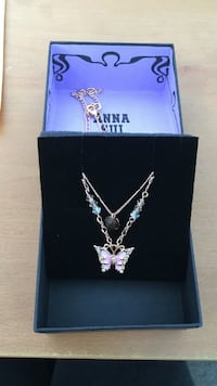 Anna-Sui butterfly double necklace Vancouver