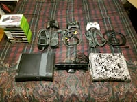 2 Xboxes with all cables, 3 controllers, Kinect, a Geneva, 60134