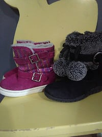 two pairs of black and purple sheepskin boots Rockville, 20853