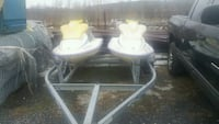 two yamaha watercrafts and double trailer as is New Carrollton