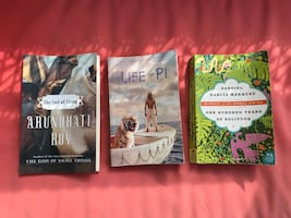 BOOKS FOR SALE: LIFE OF PI, 100 YEARS OF SOLITUDE, THE COST OF LIVING