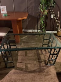 Solid glass coffee table Mississauga, L4X 1C9