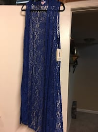 Joy Blue floral lace sleeveless wrap Springfield, 22153