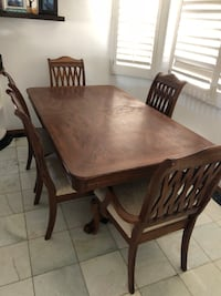 rectangular brown wooden table with six chairs dining set Canyon Lake, 92587