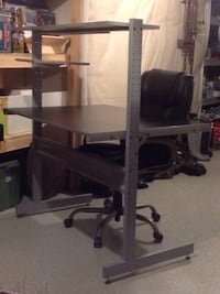 3 Tiered Shelved Desk (All Adjustable) With BIG MAN OFFICE CHAIR Northfield, 55057