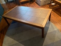 Rectangular brown wooden coffee table Cortlandt Manor, 10567