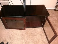 brown wooden 2-layer TV stand Lithonia, 30038