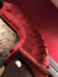 red leather tufted sofa chair Regina