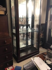 brown wooden framed glass display cabinet Alexandria, 22310