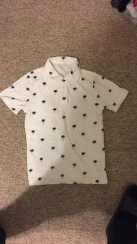 Palm tree polo tee