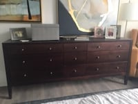black wooden dresser with mirror WASHINGTON