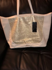 Ivory and Gold faux leather tote Athens, 30606