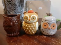 Ceramic Owl Containers, and planter! Aberdeen, 21001