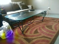 black and gray metal frame glass top coffee table Central Falls, 02863