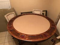 High end poker table with chairs and pictures! Beaumont, 77706