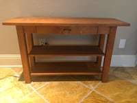 Light brown wood side table Odessa