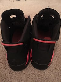 Black-and-red air jordan 6 shoes Centreville, 20120