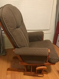 brown fabric padded glider chair 548 km