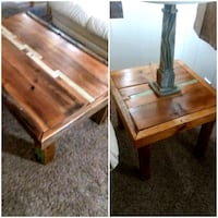 New reclaimed wood coffee table and 2 side tables Cathedral City, 92234