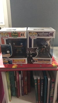 two Pop ! vinyl figures in boxes Manchester, 03102