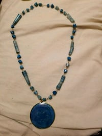 Blue beaded necklace with large blue pendant  Minneapolis