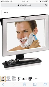 LIKE NEW ToiletTree Products Fogless Shower Mirror with Squeegee AND LIGHT  2272 mi