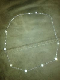 silver chain necklace with lobster lock