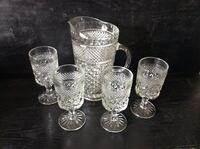 crystal cut glass pitcher with four glasses Fleming Island, 32003