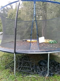 gray and black trampoline with enclosure Thomasville, 27360