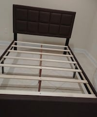 Brand New Queen Size Brown Linen Upholstered Platform Bed Frame (King Available) Silver Spring, 20902