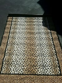 brown and black leopard print area rug Woodbridge, 22192