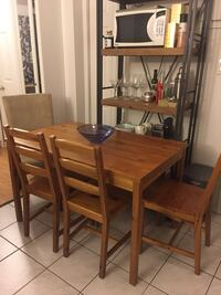IKEA table with four chairs  Montréal, H2L 3B4