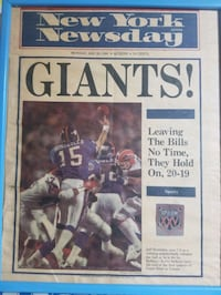 GIANTS 1st page Newsday Jan 28 1991 Valley Stream, 11581