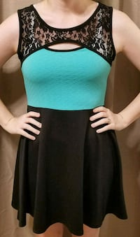 Black and turquoise dress with lace size SMALL Tuscaloosa, 35404