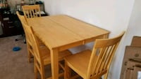 Maple stained solid wood table.  Martinsburg
