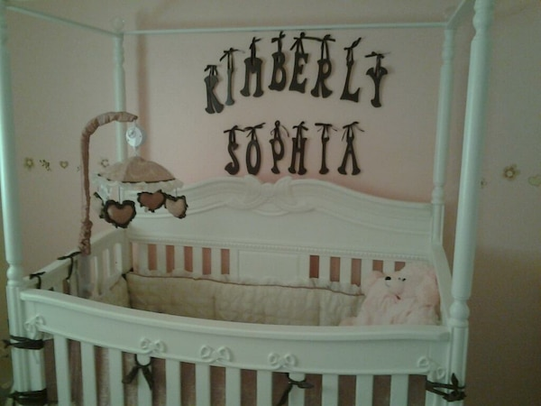 Delta Disney convertible white crib