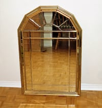 Gold framed mirror with multiple sections Brampton