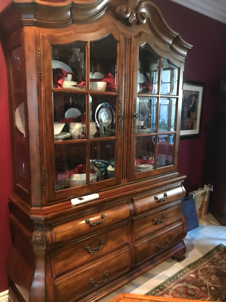 Used Brown Wooden Ethan Allen China Cabinet For Sale In Irvine   Letgo