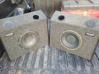 two gray car subwoofer speakers Chatsworth, 30705