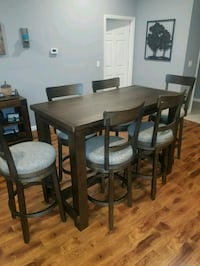 Bar height table & 6 chairs - NEW