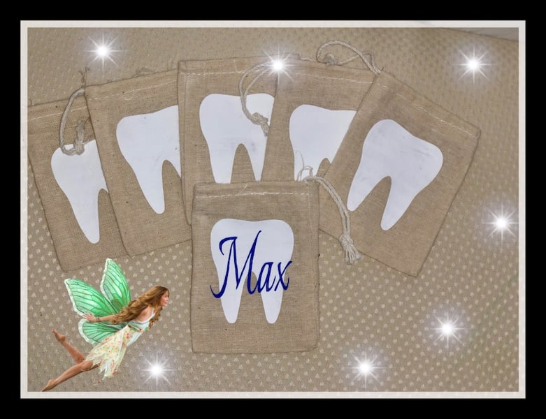 Tooth fairy bags -Personalized gifts 99ed3589-d667-49aa-b21c-58115f8e579d