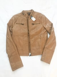 New With Tags! Camel brown faux leather jacket. Original price: $59.99 Oxon Hill, 20745