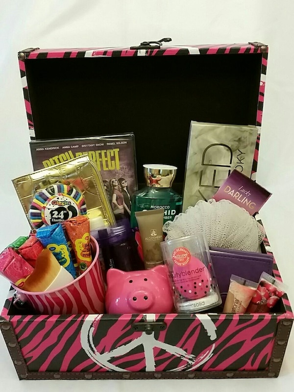 Used Teen Girls Birthday Gift Basket For Sale In Dallas