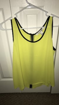 Yellow and black tank top Miami