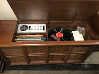Working vintage record player and radio