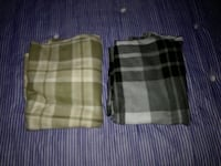 two brown and green plaid textiles Glasgow, G4 0UB