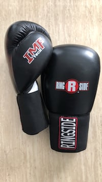 Black and red IMF Ringside boxing gloves