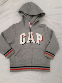 Boys 3yrs gap gray and red zip-up hoodie London